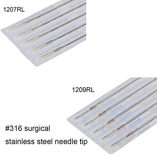Tattoo Needles Set Black Rotary - CINRA Disposable Sterile Bugpin Mag Shading Bulk Tattoo Needle for Tattoo Machine,Tattoo kit and Supplies Mixed Size 3RL 5RL 7RL 9RL 3RS 5RS 7RS 9RS 7M1 9M1 (100pcs) by CINRA (Image #4)