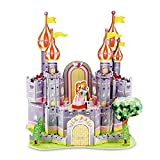 Purple Fortress 3D Puzzle Dollhouse, The Best DIY Gift for Children, Toys Game 3d-puzzles