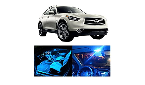 Amazon.com: CCIYU For Infiniti QX70 2014 2017 Package Kit Ice Blue LED  Interior