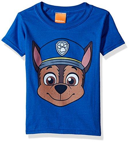 (Paw Patrol Kids' Toddler Chase Big Face Tee, Royal,)