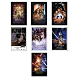 """Star Wars: Episode I, II, III, IV, V, VI & VII - Movie Poster Set (7 Individual Full Size Movie Posters) (Size: 24"""" x 36"""" each)"""