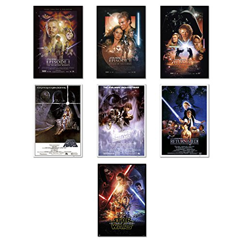 Star Wars Episode I, II, III, IV, V, VI & VII - 7 Piece Movi