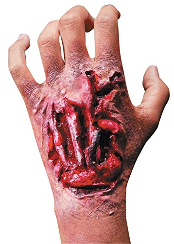 [Rubie's Costume Reel F/X Torn Up Hand Wound with Tendons, Red, One Size] (Zombie Prosthetics)
