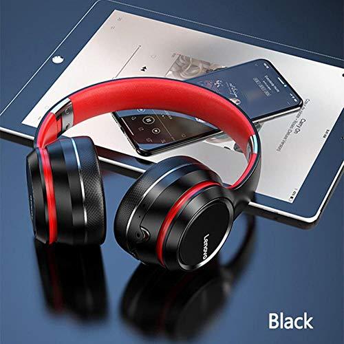 Lenovo HD200 Bluetooth Earphones Over-ear Foldable Computer Wireless Headphones Noise Cancellation HIFI Stereo Gaming Headset,Black