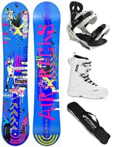 AIRTRACKS DAMEN SNOWBOARD SET - BOARD BLUEBIRD 145 - SOFTBINDUNG SAVAGE W -...