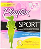 Playtex Tampons Sport Regular 18 Count Unscented (2 Pack)