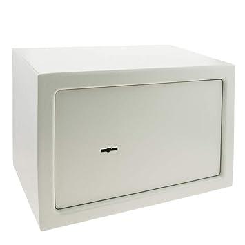 PrimeMatik - Caja Fuerte de Seguridad de Acero y con Llaves 31 x 20 x 20 cm Beige: Amazon.es: Electrónica