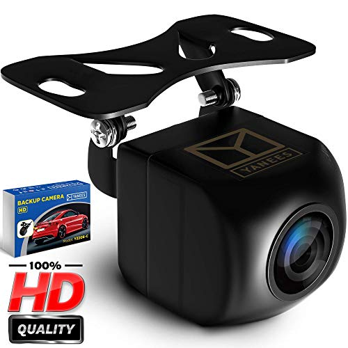 YANEES Backup Camera Night Vision – HD Car Rear View Camera – Parking GuideLines ON Off – Wide View Angel – Waterproof Reverse Auto Back Up Car Backing Camera – High Definition – Fits All Vehicles