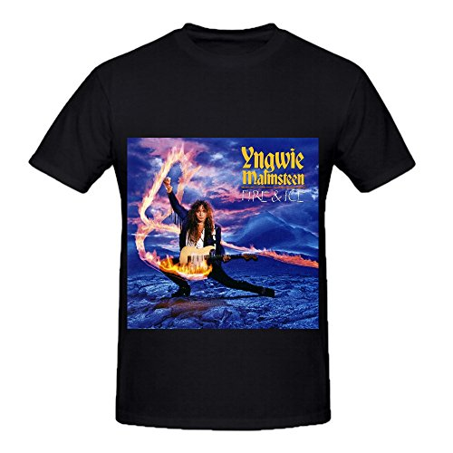 Yngwie J Malmsteen Fire And Ice Soul Men Crew Neck Printed Shirts Black (Diet Coke Dress)
