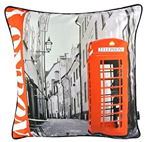 New Retro UK London Red Telephone Booth Decorative Pillow Case Cushion Cover Sham