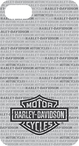Harley Davidson Black and Clear Flexible TPU Logo Protective Faceplate Cover for iPhone 8 and iPhone 7. (WILL NOT FIT PLUS SIZE -