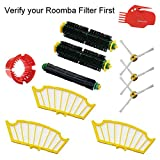 Dr. Health (TM) Accessory for Irobot Roomba 500 Series 510 530 540 555 560 570 580 590 Series Vacuum Cleaner Replacement Part Kit - Includes Filters, Side Brush, Bristle Brush, Flexible Beater Brush and Cleaning Tools