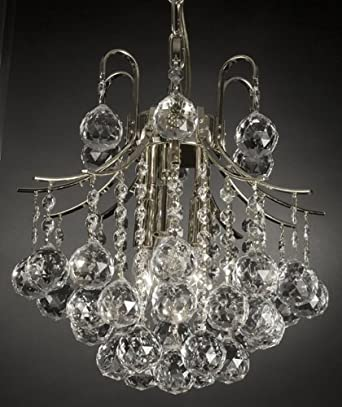 French Empire Crystal Chandelier Chandeliers Lighting, SILVER, H13 ...