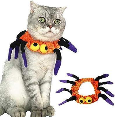 GREENSTORE Collar de Gato de Halloween, arneses Ajustables de ...