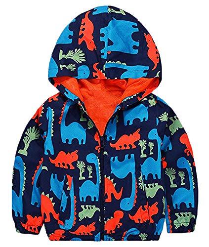 BABSUE Boy Dinosaur Jackets Full Cartoon Zip Packaway Fall Hoodies Halloween Coats for Toddler 7T for $<!--$11.88-->