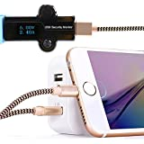 iPhone-CableZeuste-3-Pack-5ft15M-Nylon-Braided-Lightning-Cable-for-iPhone-66siPhone-66-PlusiPhone-55siOS-Devices-Gold