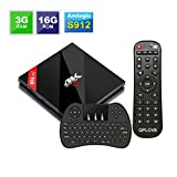 Android 7.1 H96 Pro Plus TV BOX 3G DDR3 16G EMMC Amlogic S912 Octa-core Powerful Set Top Box with Bluetooth 4.1 Dual Band 2.4G/5G WIFI 1000M Ethernet [ Comes with Mini Keyboard ]