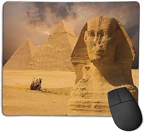 Alfombrilla de ratón Decoración egipcia La Gran Cara de la esfinge con Otras pirámides en Egipto Antiguo Monumento histórico Crema l Office Mouse: Amazon.es: Electrónica
