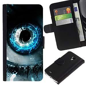 All Phone Most Case / Oferta Especial Cáscara Funda de cuero Monedero Cubierta de proteccion Caso / Wallet Case for Samsung Galaxy S4 Mini i9190 // EARTH EYE