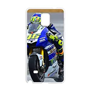 Special Lovely Nostalgic Valentino Rossi Samsung Galaxy Note 4 Cell Phone Case White Benefit Cool LHWANGN026332