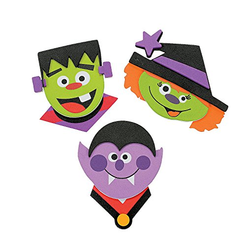 Halloween Magnets Craft Kit (1 Dozen)]()