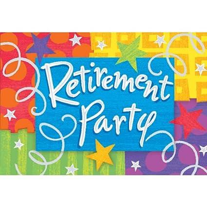 amazon com retirement party invitations toys games