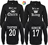 Arts & Designs King & Queen Together Since Couple Matching Hoodies Pull Over M Men - S Women