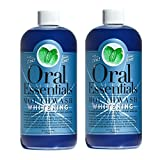 Cleansing Salt Drink - Oral Essentials Whitening Mouthwash (Pack of 2) 16 Oz: For Daily Use Without Sensitivity Dentist Formulated & Certified Non-Toxic: Removes Stains without Bleach/Harsh Chemicals Whiter Teeth in 10 Days