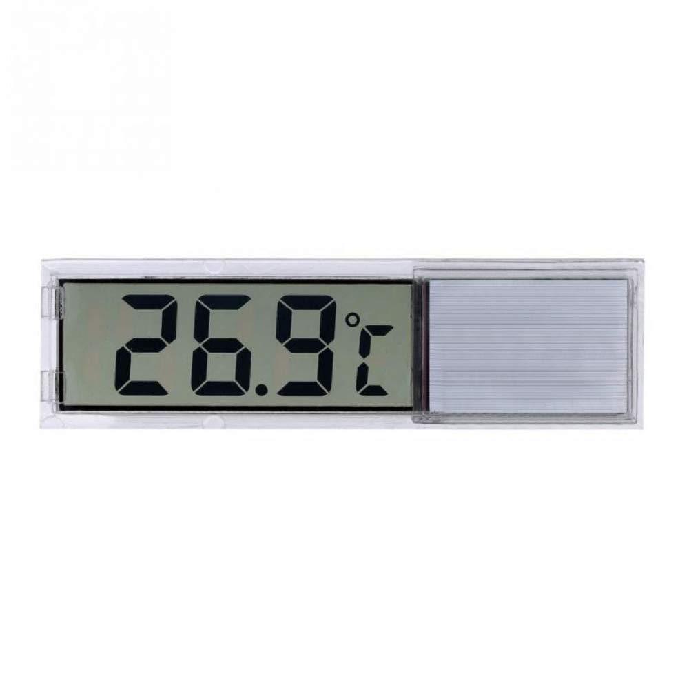 Reno Brand Plastic Metal 3D Digital Electronic Aquarium Thermometer Fish Tank Temp Meter Silver
