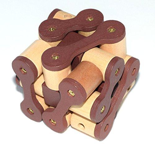 Joyeee® 3D Wooden Brain Teaser Puzzle #13 – Diamond Cube