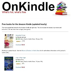 Free books OnKindle - bestsellers, top movers, new
