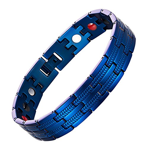 chaninely Magnetic Therapy Bracelet Pain Relief for Mens Arthritis and Carpal Tunnel Adjustable 8.5 Inches