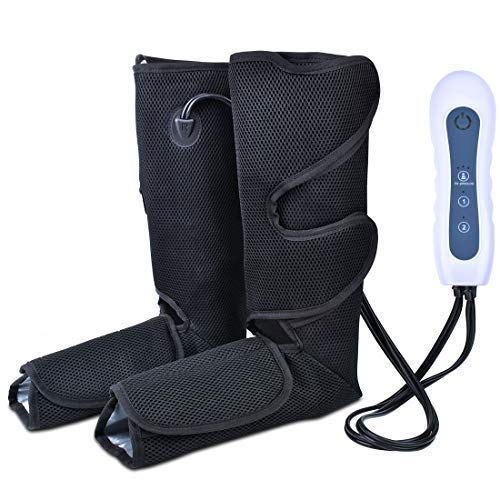 Air Compression Leg Massager for Foot Calf and Arm Massage with Portable Handheld Controller Improve...