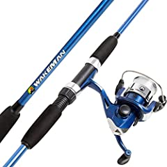 This spinning combo from Wakeman provides young anglers with confidence-building gear that they can call their own! perfect for ponds and lakes, it has what it takes to catch bass, sunfish, trout, catfish and more. Includes stainless steel ey...