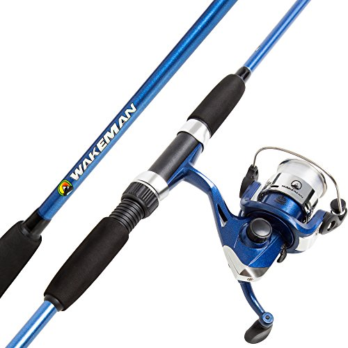 Wakeman Swarm Series Spinning Rod and Reel Combo - Blue - Reels Blue