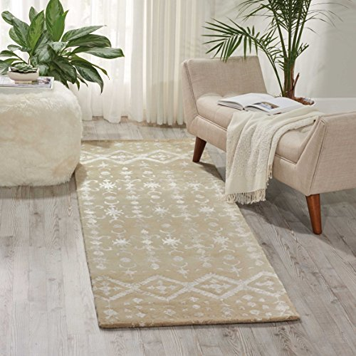 """Nourison Symphony (SYM12) Ivory Runner Area Rug, 2-Feet 3-Inches by 8-Feet  (2'3"""" x 8')"""