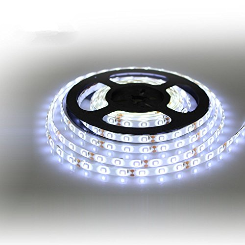 Halloween Hot Sale!!Kacowpper 12V Waterproof LED Strip Light 5M 300LEDs for Boat/Truck / Car/SUV / Rv White]()