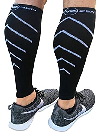 37f561e1b0 Calf Compression Sleeve Toeless Socks - Improve Circulation for Shin Splint-  Best Footless Leg Support