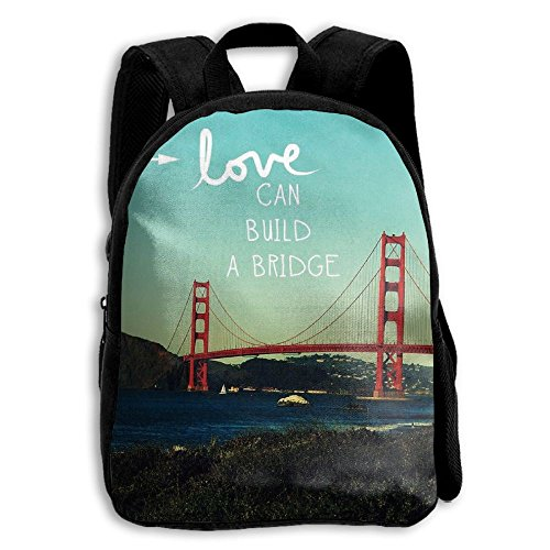 Love Can Build A Bridge Kid Boys Girls Toddler Pre School Backpack Bags Lightweight (Benson Sofa)