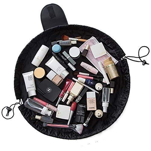 Lazy Cosmetic Bag, NTMY Organizzatore di gioielli da toeletta di trucco con cerniera e strisce