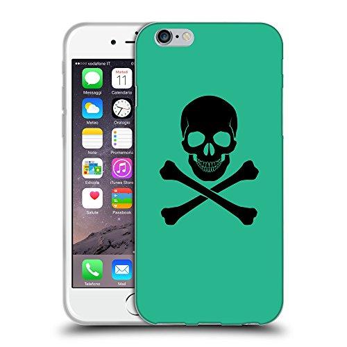 """GoGoMobile Coque de Protection TPU Silicone Case pour // Q08040626 Os croisés 1 Caraïbes Vert // Apple iPhone 6 4.7"""""""