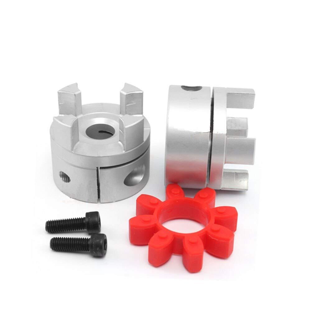 Fevas 4pcs 5x6 mm D20L34 Aluminium Shaft Plum Coupling Motor Connector Flexible Shaft Coupling CNC Parts