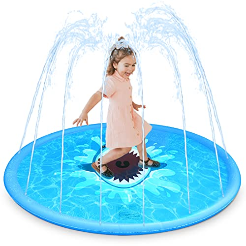 RAKEESA Sprinkler for Kids, Sprinkler Pad & Splash Play Mat 68