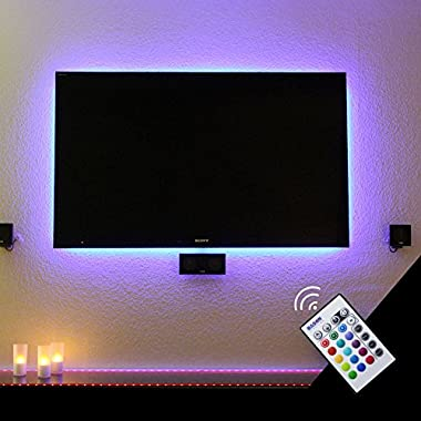 BASON USB LED TV Backlight Kit for 60 to 70 Inches, Bias Lighting LED Strip for Back of Tv Lighting Home Movie Theater Decor
