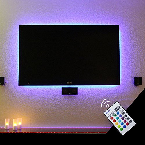 BASON USB LED TV Bias Lighting for 55 Inches, LED Strip for Back of Tv Lighting Home Movie Theater Decor