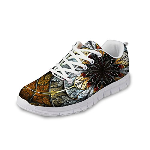 FOR U DESIGNS Fashion Mens & Womens Breathable Floral Sneakers Running Shoes