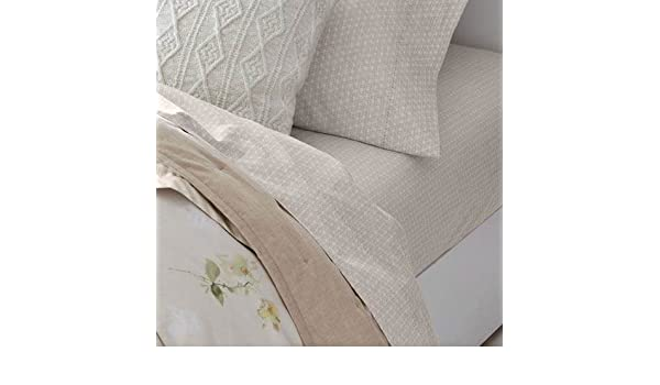 Amazon.com: RALPH LAUREN King Size Sheet Set Lakeview Lattice/Cream 100% Cotton: Home & Kitchen