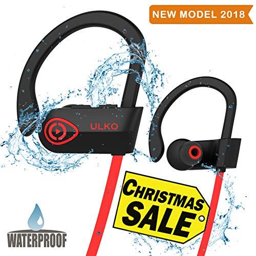 Wireless Headphones - Best Wireless Sports Earphones w/mic - HD Stereo Waterproof In Ear Earbuds for Gym Running Workout - Wireless Headphones - Noise Cancelling Headsets for Men Women