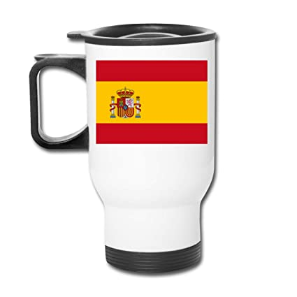 Amazon Com Lingmei Travel Mug Spanish Flag Stainless Steel Thermos