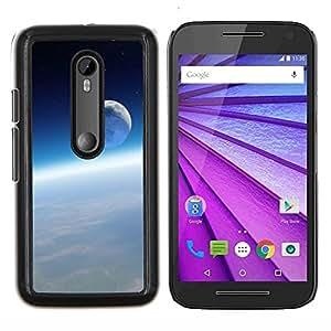 """Be-Star Único Patrón Plástico Duro Fundas Cover Cubre Hard Case Cover Para Motorola Moto G (3rd gen) / G3 ( Ambiente Espacial Tierra Luna Blue Sky"""" )"""